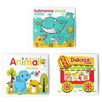 Bathroom Waterproof Books Baby Water Bath Toys with BB Device Kids Toys #SG