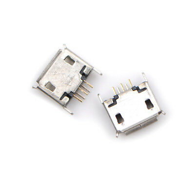 10Pcs Micro USB 5Pin Type AB Female 180° DIP Socket Soldering Jack Connector <P