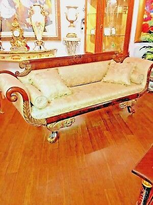 Antique Empire Settee New York Circa 1812