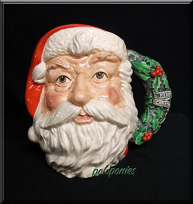 ROYAL DOULTON Santa Claus Large Character Jug D6794 - Holly Wreath Handle