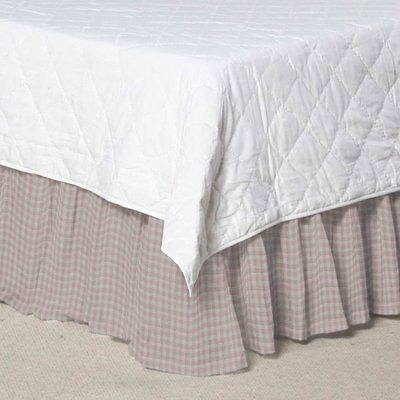 Patch Magic PInk Gingham Checks Bed Skirt Dust Ruffle Crib