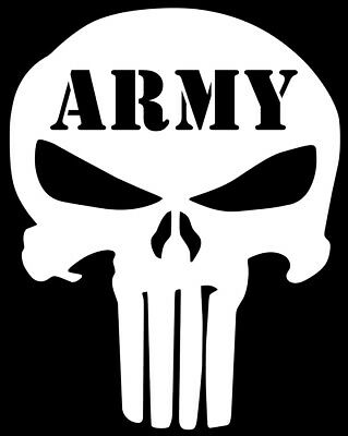 US ARMY Skull Punisher Decal Infantry Armor Cavalry Military Vinyl Sticker
