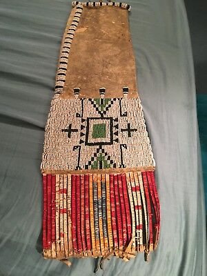 Antique Native American Beaded Pipe Bag