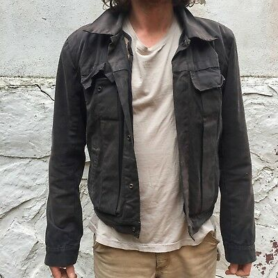 Rick Owens DRKSHDW Waxed Canvas Jacket M