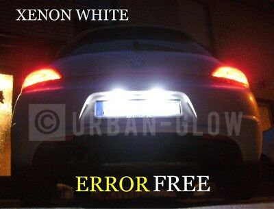 VW SCIROCCO CREE LED XENON WHITE NUMBER PLATE LIGHT Bulbs CANBUS ERROR FREE