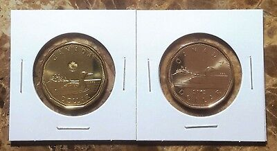 Canada 2012 New & Old Generation Style Loonies Set BU UNC From Mint Roll!!