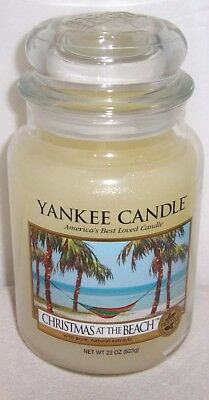 Yankee Candle CHRISTMAS AT THE BEACH 22 oz Large Jar Candle - BRAND NEW