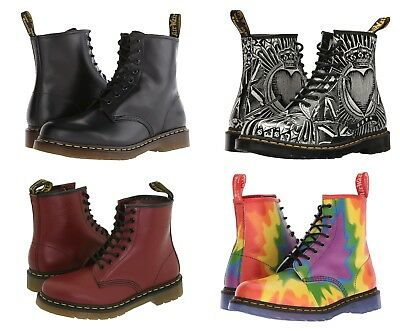 Men's Shoes Dr. Martens 1460 8 Eye Leather Boots 11822006 Red Black Smooth Nappa