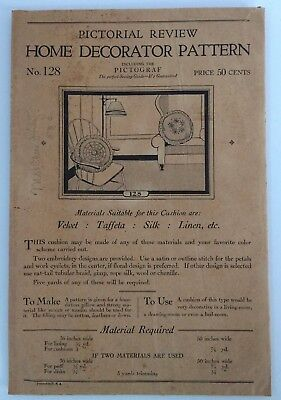 Antique Pictorial Review Home Decorator Cushion Pattern No. 128