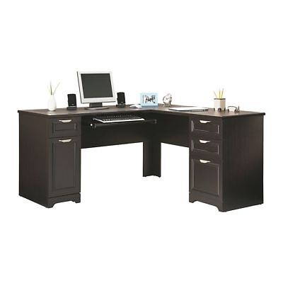 Executive Workstation L Shaped Corner Computer Desk Home Office Furniture