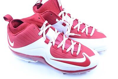new concept cfbee a6583 Nike 684687-610 Air Max MVP Elite MCS Red White Baseball Cleats Mens Size  11.5