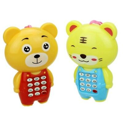 Electronic Cartoon Animals Music Toy Phone for Kids Baby Educational Toy Gift