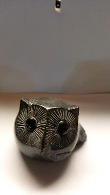 OWL FIGURINE - Wolf Original Soapstone Sculptures - Hand Made in Canada