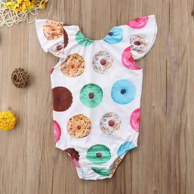 New Toddler Newborn Baby Girls Romper Jumpsuit Bodysuit Clothes Outfit Summer Y