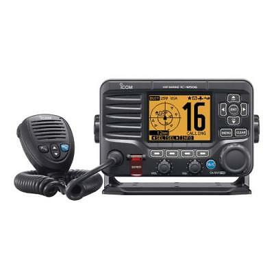 ICOM M506 21 M506 VHF Fixed Mount with Front Mic, AIS & NMEA 0183/2000 - Black
