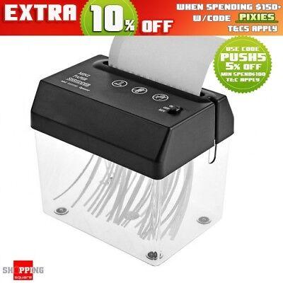 Electric Mini USB Paper Shredder with Letter Opener for office home
