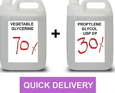 1 Litre 1L , 70VG/30PG | Vegetable Glycerine, Propylene Glycol | DIY E Liquid