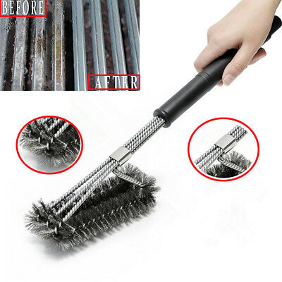 "18"" Stainless Steel Barbecue BBQ Cleaning Grill Brush Cleaner Kitchen Wire Brush"