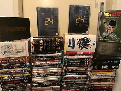 DVD/Blu Ray movies TV shows over 150 titles: Disney Marvel DC Anime Comedy