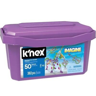 NEW K'Nex KN16434  - Imagination Makers 50 Model Set from Purple Turtle Toys
