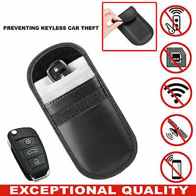 New Car Key Keyless Entry Fob Signal Guard Blocker Black  Faraday Bag UK