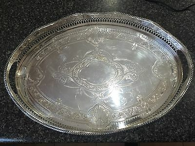 Cavendish  Silverplate Gallery Tray With Four Foot
