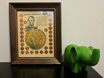 Lincoln Memorial Coins - Framed (29 Coins, 1958-71) [AS IS]