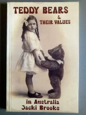 TEDDY BEARS & THEIR VALUES in AUSTRALIA BOOK by Jacki Brooks, hand signed, 1998