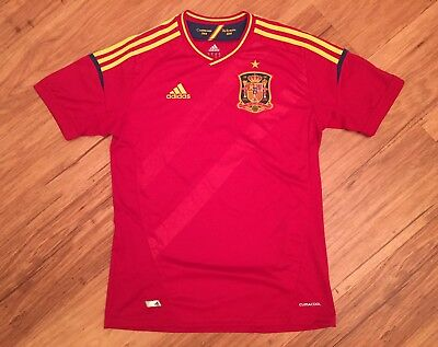 NWOT SPAIN 2008 Euro Football Soccer Jersey Camiseta Shirt Youth Red Size XL