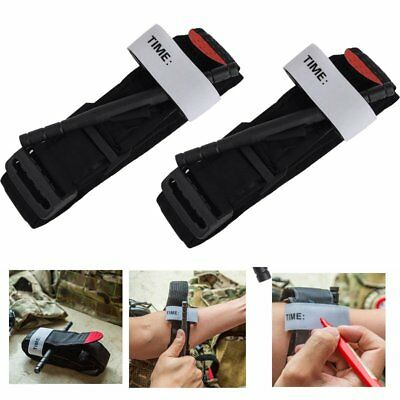 2tlg Military Army Red Tip Tourniquet Unwrapped Israeli Bandage Gloves First Aid