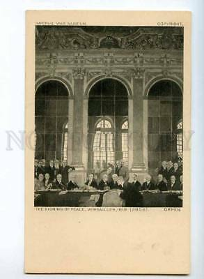 246502 Signing of Peace Versailles 1919 by ORPEN Vintage PC