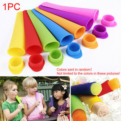 Ice Cream Mold Push Up Cube DIY Lolly Mould Silicone Tray Frozen Maker Useful