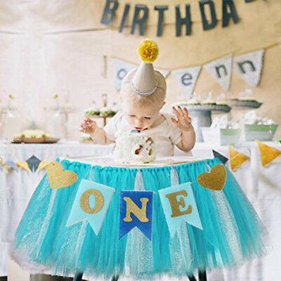 Baby 1 First Birthday Boy Girl Kids One Year Old Garland Banner Decor