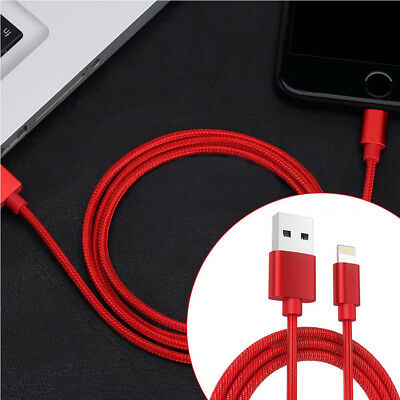 3FT Braided Data Sync& Charger Fast Charging USB Cable Lead For iPhone 8,7,5S,6