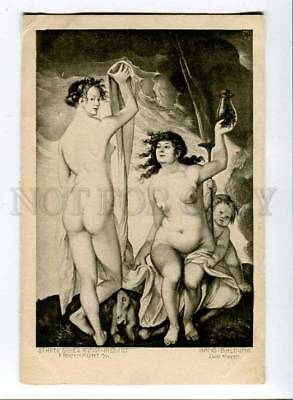 257365 Hans BALDUNG Two WITCH Vintage postcard