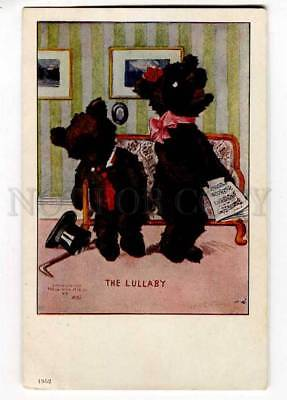 257344 ROMANTIC TEDDY BEAR Lullaby By M.D.S. Vintage Ullman PC