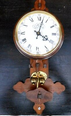 Large unusual Vintage torsion clock by Rowe of Guernsey