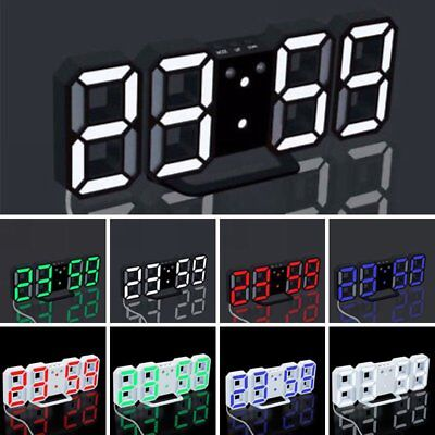 LED Digital Large Big Jumbo Snooze Wall Room Desk Calendar Alarm Clock Display X
