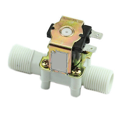 "1/2"" Plastic Electric Solenoid Valve Magnetic Water Air DC 12V Normally Close UK"