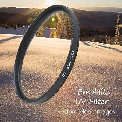 52 67 72 77 82mm Emoblitz Slim UV Filter Circular Camera Lens For Canon Nikon AU