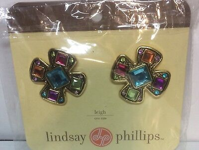 New Lindsay Phillips Shoe Snaps SwitchFlops Leigh Bling Jeweled Purple Gold
