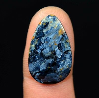 11.60 Cts. 100 % Natural Aaa Chatoyant Pietersite Pear Cabochon Platinum_Gems