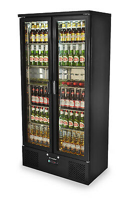 PRIMO 500 | Upright Back Bar Bottle Cooler | Beer Fridge | Double Glass Door