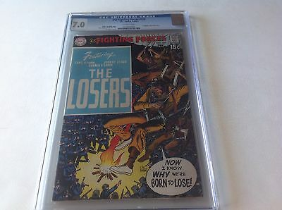 Our Fighting Forces 123 Cgc 7.0 Joe Kubert Collection Copy 1St Losers Dc Comics