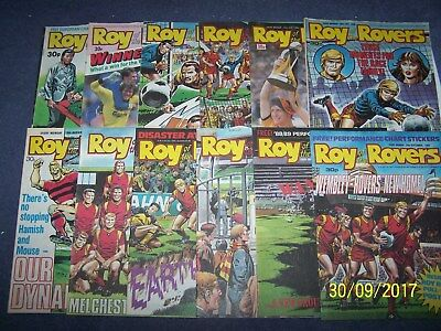 12 Roy of theRovers Comics 25/6, 2, 9, 16, 23, 30/7, 6, 20, 27/8, 3, 10, 24/9/88