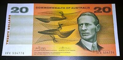 1972 Australia Phillips/Wheeler $20 Twenty Dollars banknote