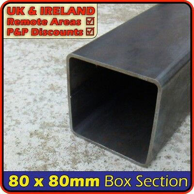 Mild Steel Square Tube ║ 80 x 80 mm ║ box section iron,profile,tubing,pipe
