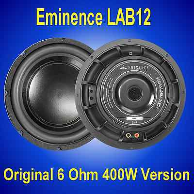 "Eminence LAB-12 400W / 800W 12"" 6 Ohm Subwoofer Driver"