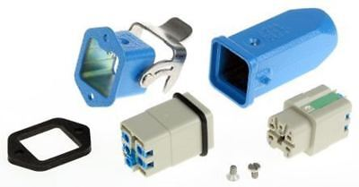 Han Ex Series 4 Way Male/Female Connector Kit, includes Hood, Housing, Insert