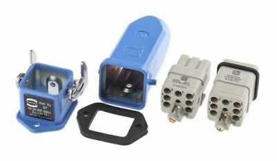 Han Ex Series 7 Way Male/Female Connector Kit, includes Hood, Housing, Insert
